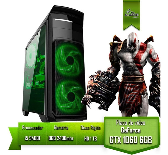 Pc Gamer I5 9400f H310m Pro Gtx 1060 6gb Memoria 8gb Hd 1tb