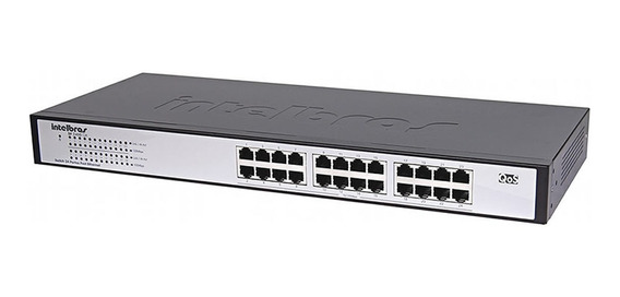 Switch 24 Portas Fast Ethernet Intelbras Sf 2400 Qr+ Full
