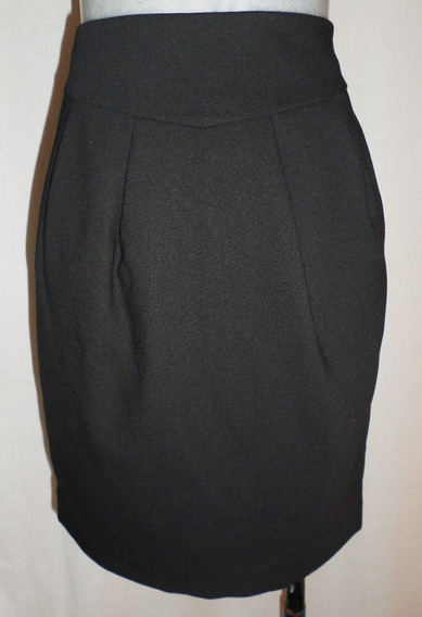 Falda Negra Ejecutiva Ann Taylor Loft T. 26