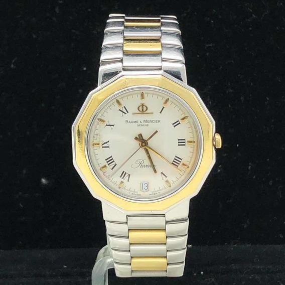 Reloj Baume Mercier Riviera Oro 18k Y Acero Inoxidable 34mm