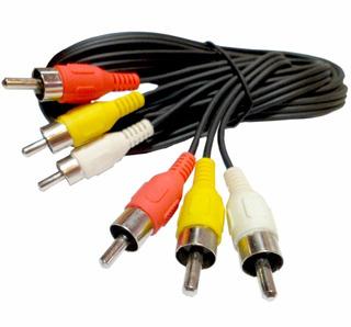 Cable De Audio Y Video 3 Rca Macho A 3 Rca Macho 5 Metros