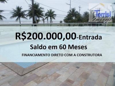 Apartamento Em Praia Grande, Vista Mar, 03 Dormitórios Sendo Suítes, Sala Com Varanda Gourmet. Lazer Completo Na Aviação Ap1706 - Ap1706