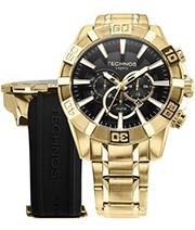 Relógio Banhado A Ouro Masculino Technos Os2aajac/t4p