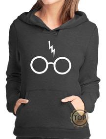 Blusa Moletom Óculos Harry Potter Canguru Com Capuz Unisex