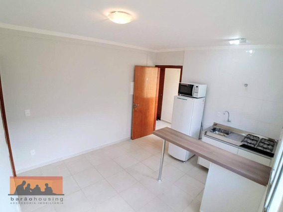 Kitnet Com 1 Dormitório Para Alugar, 30 M² Por R$ 1.300,00/mês - Cidade Universitária - Campinas/sp - Kn0452
