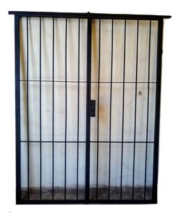 Puerta Reja De Abrir 120x200 Con Marco Y Cerradura