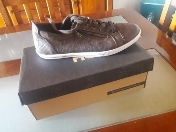 Zapatillas Dromo Jeans 42 Cuero