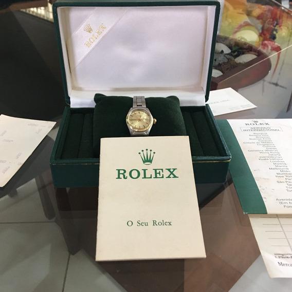 Rolex Completo Ano 1975 Para Colecionador Com Nf E Estojo