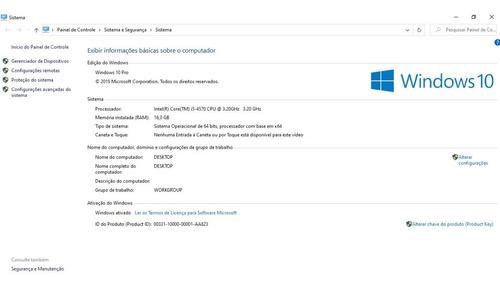 Desktop Game Core I5 4570 16gb Ssd 240gb 500w H81mhv3 Hd6870