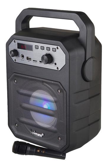 Parlante Portatil Bluetooth Bafle Microfono Bowmann Bts-250k