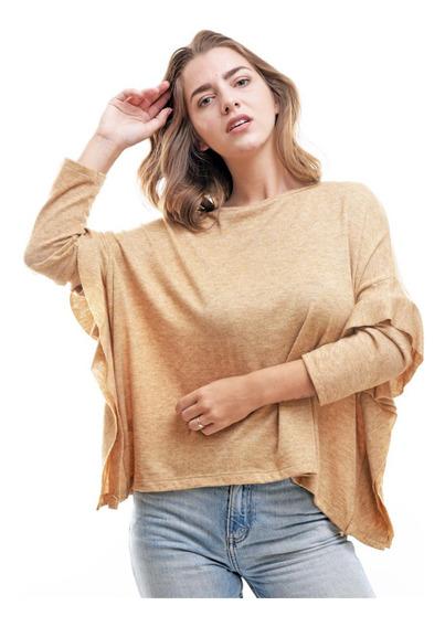 Sweater Liviano Con Volados Otoño Invierno
