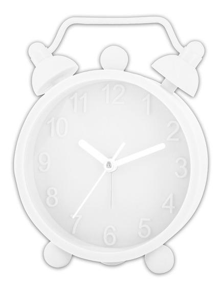 Reloj Despertador De Silicona Hello Blanco Timco