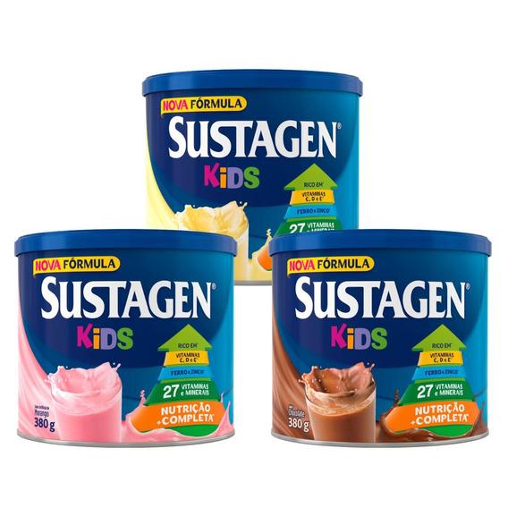 Sustagen Kids Nutrição Infantil Baun/choc/morango 380g