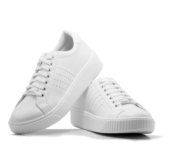 Zapatillas Mujer Blancas Savage Cuero Originales