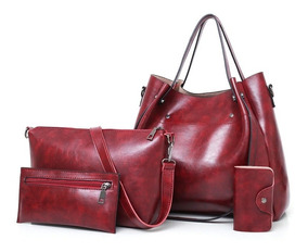 Bolsa Feminina Kit Conjunto 4 Peças Varias Cores Lindas Luxo