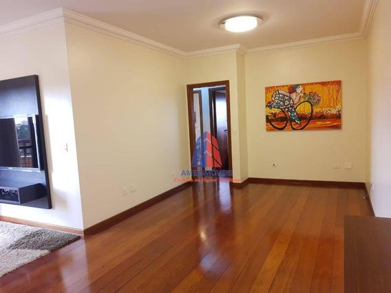 Apartamento Com 3 Dormitórios À Venda, 126 M² Por R$ 730.000 - Residencial Villa Americana - Jardim São Paulo - Americana/sp - Ap1015
