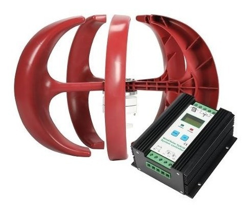 Kit Generador Eólico 24v 400w Y Controlador Híbrido 24v 600w