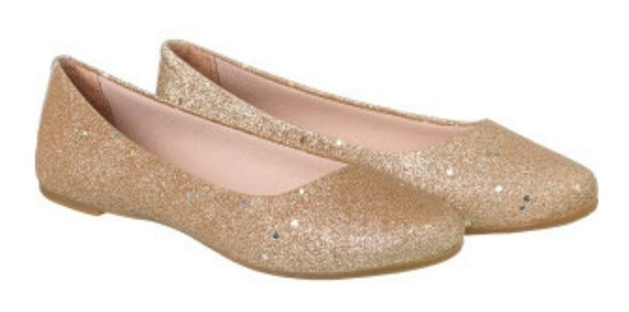 Sapatilha Pampili Blog Glitter Dourado
