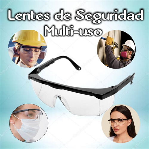 Lentes De Seguridad Multiuso Odontologia Industrias Etc
