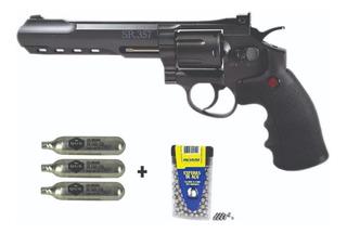 Revólver Full Metal Pressão Crosman Sr357 Black 4.5mm 450fps