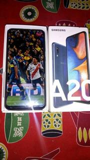 Celular Samsung A20 4g 32gb 3ram Octa Core Liberado En Caja