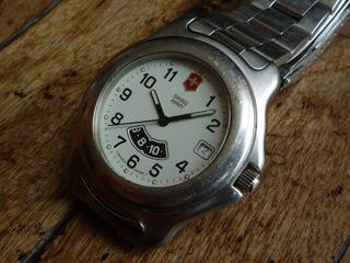 Swiss Army Raro Segundo Uso Horario Reloj Suizo Re 16219swt
