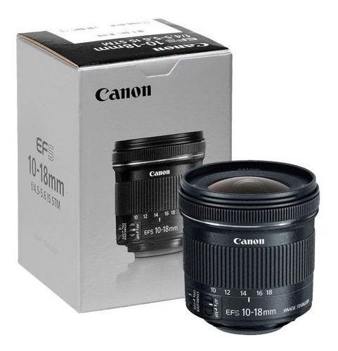 Lente Canon 10-18 F/4.5-5.6 Is Stm Garantia Canon Oficial Nf