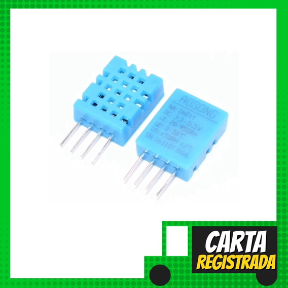 Sensor De Umidade E Temperatura Dht11 Arduino - Carta Regist