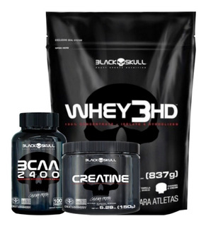 Combo Whey 3hd 837g + Creatina 150g + Bcaa 2400 100 Tablets