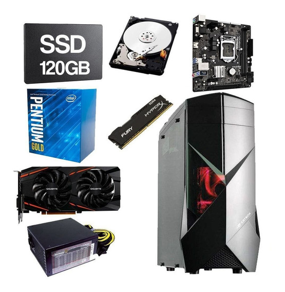 Pc Gamer Pentium G5400 3.70ghz 8gb Ddr4 Ssd 120gb Hd 1tb 4gb
