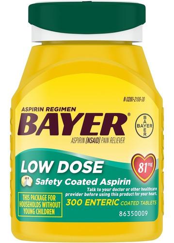 Imagen 1 de 1 de Bayer Aspirina 81 Mg 300 Tabletas