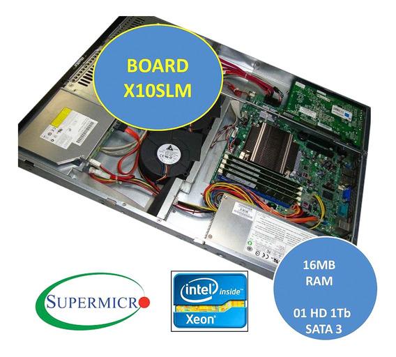 Servidor Supermicro X10 1u Xeon 16gb Ram Hd 1tb