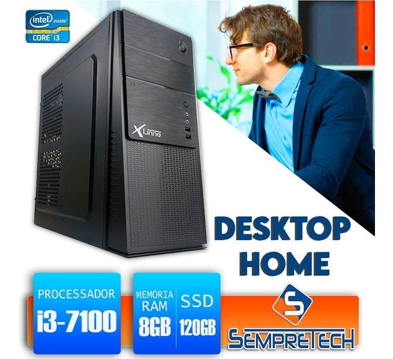 Desktop 1151 Home I3 7100 Ddr3 8gb Ssd 120gb X-linne
