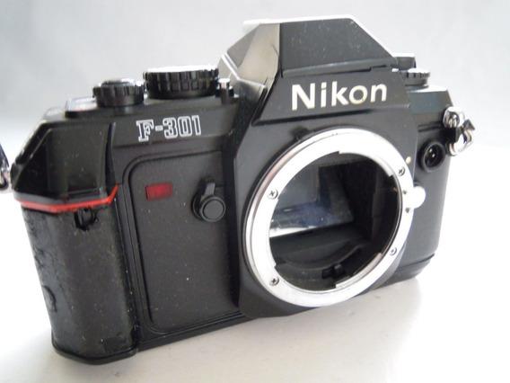 Câmera Nikon F-301 Slr 35mm Super Nova Fabricada Japão