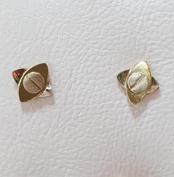 Aros De Oro 18k Traba Mariposa 1,8grs Brumatjoyas