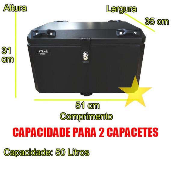 Baú Moto Cb 500 X Alumínio 50 Litros Moto Cb500 X 500x
