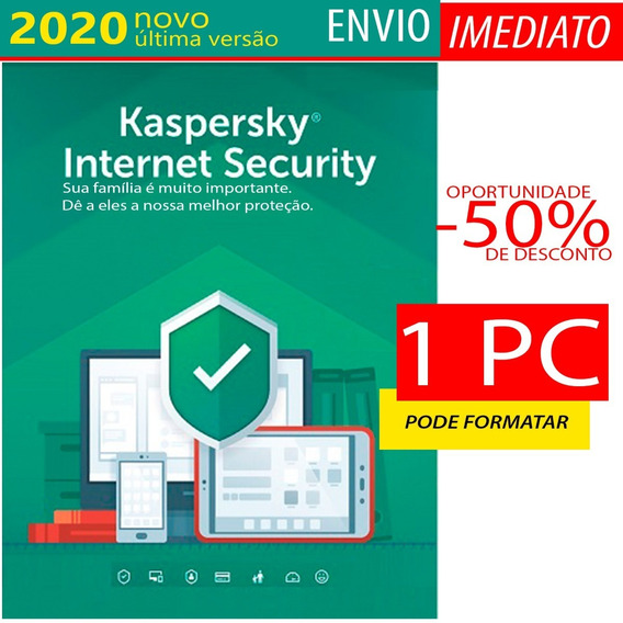Kaspersky Internet Security 1 Pc 9 Meses Envio Imediato
