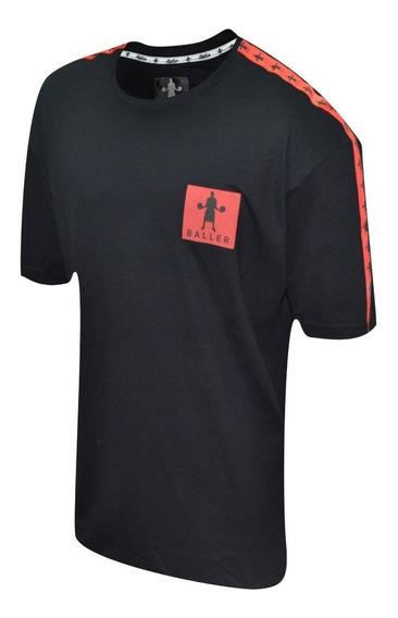 Remera Baller Brand Clean Negro