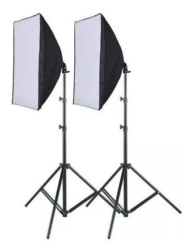 Kit 2 Soft Box 50 X 70 E27 Luz Continua + 2 Tripes 2m