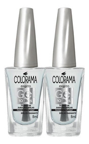 Kit Esmalte Colorama Gel Top Coat Gel