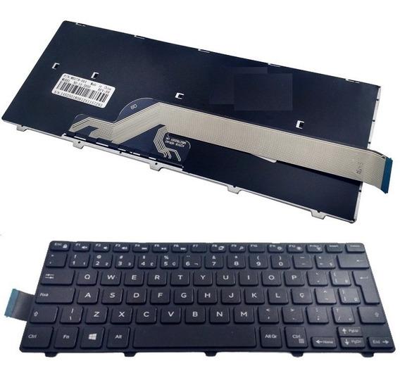 Teclado Dell Inspiron 14 3000 3442 3443 P53g Original Ç Novo