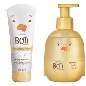 Boticário Sabonete Liquido E Loção Pos Banho Boti Baby
