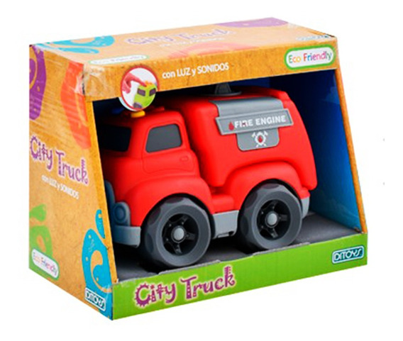City Truck Ecofriend Bombero Original Ditoys