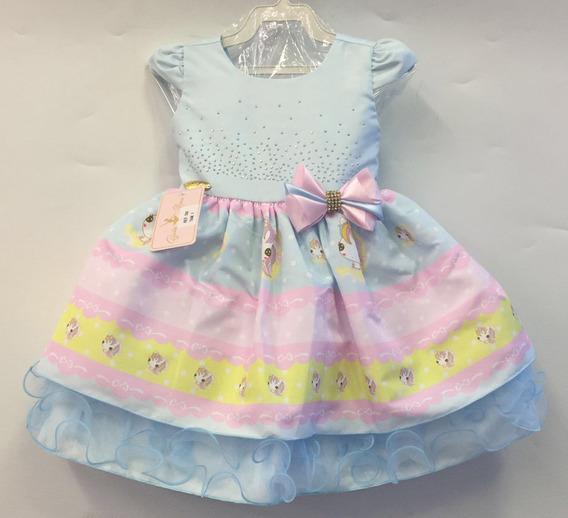 Vestido Infantil Unicornio 1 Ao 4