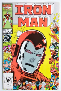 Iron Man 212 (marvel 1986) Portada 25 Aniversario Marvel.