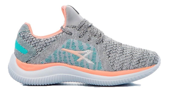 Athix Zapatillas Running Mujer Fit Gris - Salmon