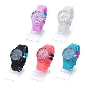Kit 10 Relógios Feminino Silicone Moda Atacado E Revenda
