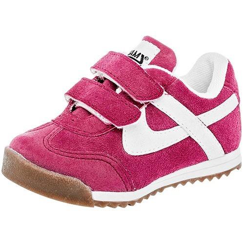 Tenis Sneaker Panam Niñas Textil Fucsia Blanco Dtt A67697