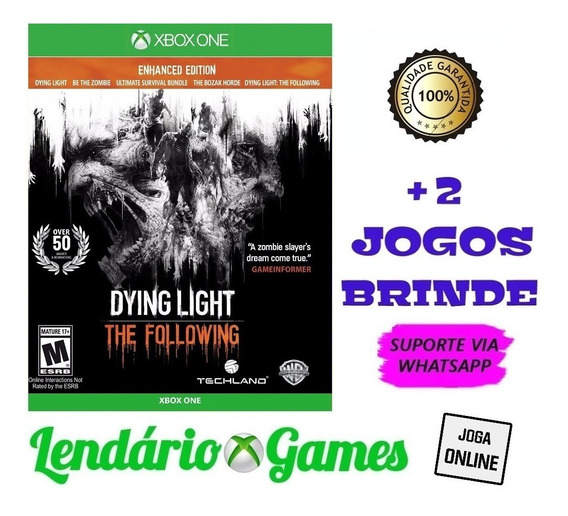Dying Light The Following Ed Aprim X One Digital + 2 Brindes