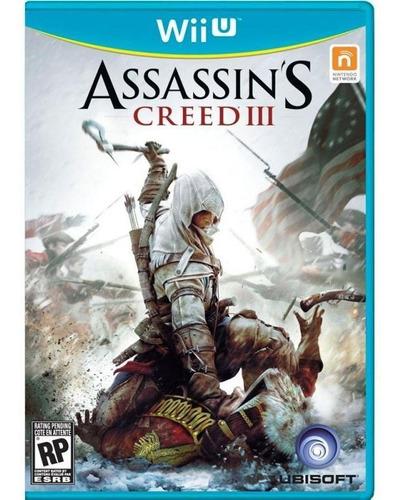 Assassins Creed Lll Wii U Mídia Física Pronta Entrega